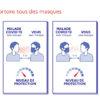 niveau de protection port du masque microfibre d'argent